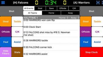 Soccer Scoring App + Stat Tracking | Scorebook+ by Mobile Digita